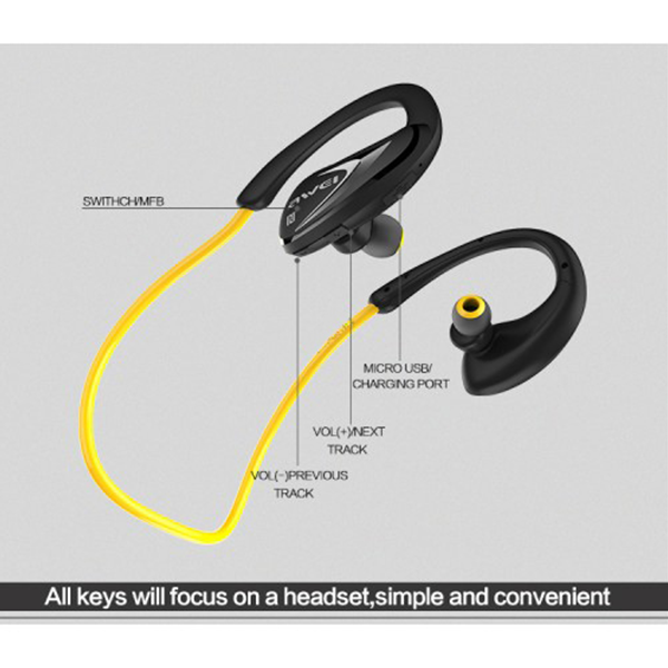 Awei A880BL Wireless Sports Stereo Headphone 7