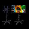 LED TV Monitor Screen Wheeled Trolley TV Stand Bracket