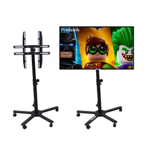 LED TV Monitor Screen Wheeled Trolley TV Stand Bracket