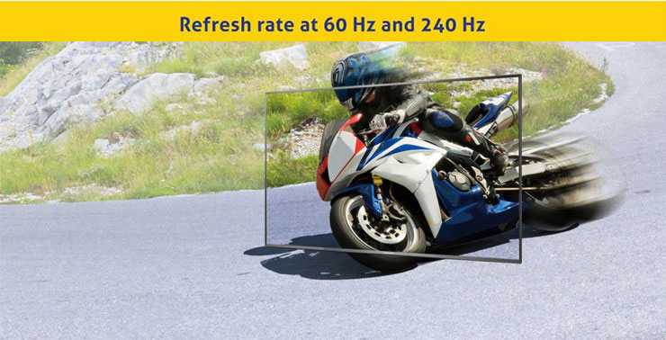 refreash rate at 60hz