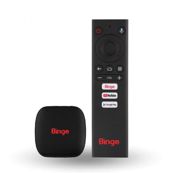 binge android tv device with build in chromecast